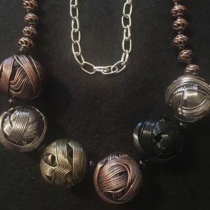 Metal Spheres Necklace